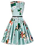 GRACE KARIN Blumen Kleid Rockabilly Damen gürtel Kleid festlich Petticoat Kleider S CL6086-33