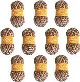 Acrylwollgarn zum Stricken oder Häkeln Mehrfarbigen Marmorstrick Torrijo NATURE 80g | 10er Pack, Mehrfarbig 2611