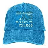 Leumius Intelligence is The Ability to Adapt to Change-1 Hat, Baseball Cap Herren Verstellbare Stretch Trucker Cap Classi, blau, One size