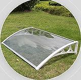 SHJMANPA 80x80cm Transparente Platte Pc Platte Fenster Markise Regen Schnee Schutz Raucherbereich Dachabdeckung Vielseitig Erweiterbar, Transparent Board, 80X80CM