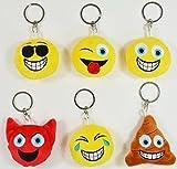 BUSDUGA - Emoji Schlüsselanhänger 6 Verschiedene Gesichter , wählbar (Zunge)