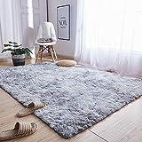Teppiche Für Wohnzimmer, Fluffy Shaggy Super Weicher Teppich Geeignet Als Schlafzimmerteppich Home Decor Kinderzimmer Teppiche Kindermatte,Grau,200X300CM