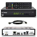 Comag HD25 HD Sat Receiver mit USB Aufnahmefunktion PVR + Mediaplayer mit HDMI Kabel, Astra vorinstalliert Digital Satelliten Receiver DVB-S2, HDMI, Full HD, HDTV