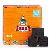 Johns Cubes Shisha Kohle 26er Naturkohle aus 100% Kokosnussschalen – 1 kg für Shisha & BBQ/G