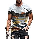 ZYUD T-Shirt Herren Slim Fit Kurzarm Shirt Bluse Jogging Yoga Männer Tops Sportshirt Kurzarm Laufshirt Atmungsaktiv Kurzarmshirt Trainingsshirt Running Gym T-Shirt Sommer Pullover Bluse Tops