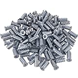 Gedotec Spezialschraube VARIANTA Möbel-Schraube mit Vollgewinde | 6 x 10,5 mm | Bohrung Ø 5 mm | Euroschrauben für Auszüge - Schubladenschienen & Orgaline | 100 Stück - Verbindungsschrauben Holz