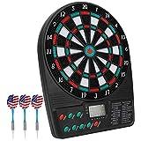 COMF Elektronische Dartscheibe, kabelloses Dartboard mit 3 Softdarts & Spielvarianten, für bis zu 8 Dartspieler