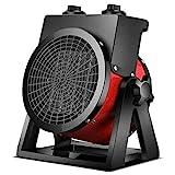 ZWWZ Terrassenheizung im Freien, keramische elektrische Lüfter Heizung Treibhausheizung Tragbare Indoor-Tisch-Raumheizung für Raum, Garten, Garage, a MISU (Color : B)