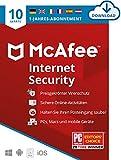 McAfee Internet Security 2021 | 10 Geräte | 1 Jahr | Antivirus Software, Virenschutz-Programm, Passwort Manager, Mobile Security| PC/Mac/Android/iOS |Europäische Ausgabe| Aktivierungscode per Email