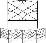 Amagabeli 60CM X 300CM Gartenzaun Metall Zaunelementen Gartenzaun Dekorative Zaun Komplettset Zaun Metall Holz Draht Zäune Metall