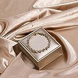 WLLLTY Damenarmband Multicolor Turmalin Tigerauge Bead Kristallarmband Weibliches Mädchen Gold Magnetarmband Modeschmuck