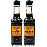 Lea & Perrins - 2er Pack Original Worcestershire Sauce in 150 ml Glasflasche (Würzsauce) - Traditionell englische Worcester Worcestersauce