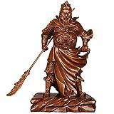 LXHJZ Guan Yu Statue Ornament Hold Messer Figur, Guan Gong/Guan Di/Guan Yun Chang Skulptur, Home Office DREI Königreiche Held Dekor