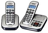 Audioline Master 382 DECT Schnurlostelefon mit zusätzlichem Mobilteil (Anrufbeantworter Freisprechen) silber