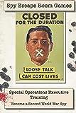 Spy Escape Room Games: Special Operations Executive Training - become a Second World War Spy (Spy Escape Room Games - Second World War)
