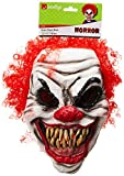 Smiffys SM35710 Halloween! Smiffys Maske Schrecklicher Clown, Über Kopf, Latexschaum