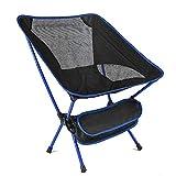 BJH Klappbarer Campingstuhl im Freien, Leichter kompakter Strand-Lounge-Stuhl zum Angeln, Sketch Moon-Stuhl im Freien für Picknickwanderungen, tragbarer Regiestuhl mit hoher Rückenlehne