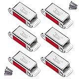 Tür Magnete für Schranktüren Jiayi 6 Stück Magnetschnäpper Edelstahl Türmagneten für Möbel Stark Schubladen Magnetverschluss Schrank Magnet Türschließer Möbelmagneten Moebel Verschluss