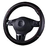 Auto Lenkradbezug 38cm Rutschfester Atmungsaktiver PU Leder Lenkradschutz Universal Autozubehör