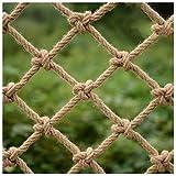 Stasy Kinder-Sicherheitsnetz Outdoor-Kletternetz, Balkontreppen Gartenschutznetz Hanfseilnetz, Outdoor-Baumhaus Schutznetz Frachtseil-LKW-Anhängernetz(Size:2X3M(7X10FT))