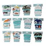 Njuyd Anti-Kratz-Gesichtshandschuhe für Neugeborene, 2 Paar modische Baby-Kratz-Handschuhe für Neugeborene Schutz Gesicht Baumwolle Kratz-Fäustlinge