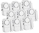 VisorTech Fenstersicherung: 9er-Set Mini-Tür- und Fensteralarme, 95 db, 2 Jahre Batterielaufzeit (Alarmmelder)
