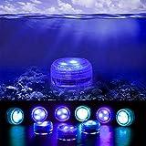 ZXVC 6-teilige LED-Tauchleuchten mit Wasserdichten Unterwasserleuchten, die für die Vase Fishtank Wedding Halloween Christmas betrieben Werden