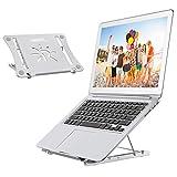 OMERIL Laptop Ständer, höhenverstellbar Notebook Computer Ständer, Tragbar Faltbar Belüftet Aluminium Laptopständer Kompatibel mit Alle 9-17-Zoll-Notebooks /iPad, MacBook, Huawei, HP, Samsung