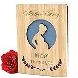 Muttertagskarte, Grußkarte Holz, Party, Weihnachtskarte Muttertags-grußkarten