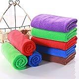 Fiber Handtuch 35 *75 Trockenes Haar Handtuch Auto Handtuch Küche Tägliche Reinigung Handtuch 30*70 Blau