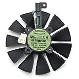 iHaospace T129215SU 12V 0.5A 87mm 4Pin Grafikkartenlüfter for ASUS Strix GTX980Ti GTX970 GTX1070 GTX 1080 Strix R9 390X R9-390 Graphics Card Cooling Fan