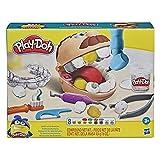 Play-Doh Zahnarzt Dr. Wackelzahn, Spielzeug für Kinder ab 3 Jahren mit Kariesknete und metallfarbener Knete, 10 Knetwerkzeugen, 8 Dosen à 56 g