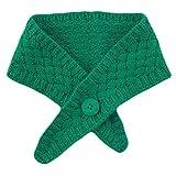 njuyd Fashion Schals Koreanische Frauen Strickschal Kreuz Falsche Kragen Solide Candy Farbe Crochet Schal Wrap Winter Outdoor Winddicht Halstuchwärmer