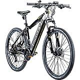 Zündapp Z801 Ebike Mountainbike 27,5 Zoll E Bike Damen Herren E-Mountainbike 650B Mountain Bike Shimano Schaltwerk Elektro Fahrrad Männer Pedelec Bikes Hardtail (schwarz/Silber, 48 cm)
