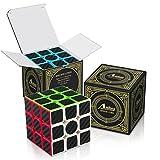 Aiduy 3x3x3 Zauberwürfel Speed Cube Kohlefaser Aufkleber für Smooth Magic Würfel Puzzles.
