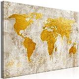 murando - Bilder Weltkarte 120x80 cm Vlies Leinwandbild 1 TLG Kunstdruck modern Wandbilder XXL Wanddekoration Design Wand Bild - Kontinente Landkarte World Map Abstrakt k-A-0499-b-a