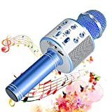 SunTop Bluetooth Karaoke Mikrofon Kinder, Drahtlose Mikrofon Player mit Lautsprecher Dynamisches Mikrofon für Erw