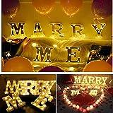 Marry Me-Schild, beleuchtete Buchstaben, Neon-Zahlenschild, Wanddeko, warmweiß, Buchstabenlichter für Haus, Bar, Kneipe, Hotel, Kinderzimmer, Wohnzimmer, Geburtstag, Hochzeit, Party