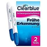 Clearblue Schwangerschaftstest Schnell & Einfach, Über 99 Prozent zuverlässig, 2 Tests