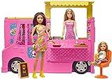 Barbie - Restaurant Schwester inkl. 3 Puppen und mehr als 30 Zubehörteile, Mehrfarbig (Mattel GWJ58)