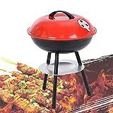 ZhiLianZhao Barbecue Grill, mit Ständer, Kugelgrill, Wärmeregelung, für Camping, Picknick, Party