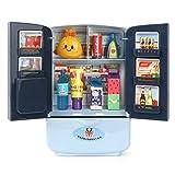 Simulation Doppeltüriger Spaß Kühlschrank Küche Smart Toy Kindermöbel Mit Küchenspielzeug Set Zubehör (Blau)