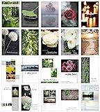 Edition Seidel Set 20 einfühlsame Trauerkarten / Beileidskarten mit Umschlag. Trauerkarte Beileidskarte mit Spruch schreiben (Doppelkarten/Klappkarten mit Briefumschlag)