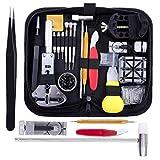 ZhangDD Uhr-Reparatur-Werkzeug-Satz-Profi Frühlings-Stab-Band-Verbindungs-Pin Austausch der Batterie mit Tragetasche 151PCS Handbetriebene Werkzeuge