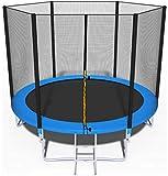 Trampolin, Gartentrampolin Jumper, TÜV & GS Zertifizierung, inklusive Sicherheitsnetz, Sprungmatte, Leiter und Randabdeckung, 244 cm Durchmesser