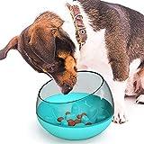 ANXI Schnelle Nahrungsvorbeugung, rutschfeste Mahlzeit, kleine und mittelgroße Hunde-Futterstation, pflegeleichtes Haustiergeschirr, langsames Fressen, Fressnapf, Erstickungsvorbeugung