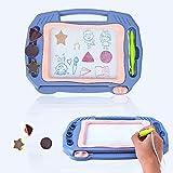 Lekebaby Magnetische Maltafel Zaubertafel, 30 x 23 cm Zeichentafel mit 3 Stempeln, Lernspielzeug für Jungen und Mädchen
