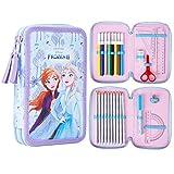 Disney Eiskönigin 2 Federtasche Kinder, Pencil Case mit Anna und ELSA Eiskönigin, Etui Schule Mädchen, Federmäppchen für Schule, Geschenke für Kinder