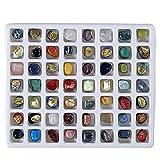Steinset Natural Gemstones, 56er Edelsteinset, verschiedene E