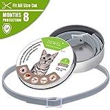 DEWEL 32.5 cm Zecken Halsband für Hunde Katze,Floh-und Zecken Halsbander Verstellbar und Wasserdicht mit 8 Monte Schtuz Anti-Zecken und Flöhe
